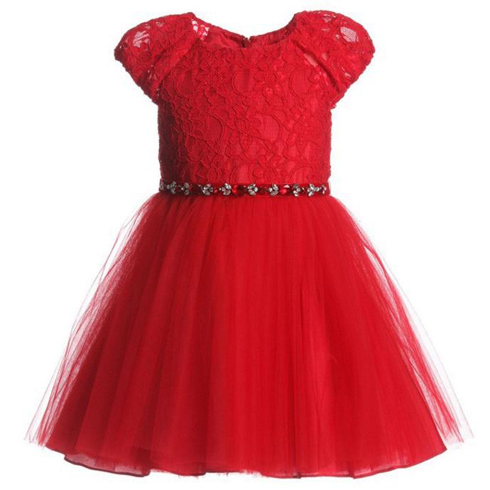 Girl dress summer style Wholesale 2015 Little girl dress red lace Paillette children Costumes Floral cute vestido roupa infanti<br><br>Aliexpress