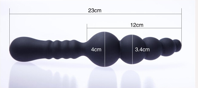 Middle Size 4cm Diameter Silicone Wand Butt Plug Anal Sex Toys Chastity Anal Beads Anal Vibrator<br><br>Aliexpress