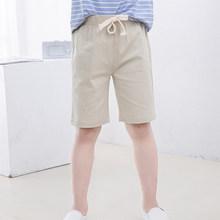 2-10 yıl çocuk Boys pantolon diz boyu şort şeker renk kız çocuk yaz plaj gevşek şort pantolon pamuk keten(China)