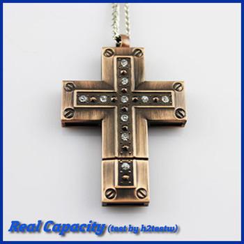 free shipping pen drive cross usb flash drive 32gb cool pendrive old rugged cross usb stick necklace 4gb 8gb 16gb 32gb