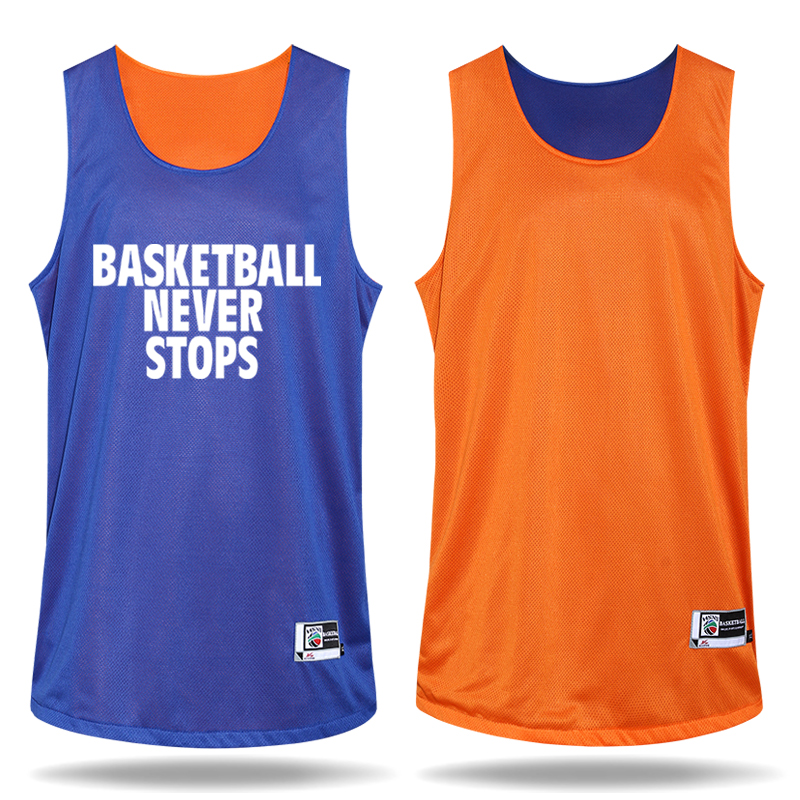 Men's Double Sided Basketball Clothes Suit Custom Logo Number Team Training Suit Breathable Quick-drying(China (Mainland))