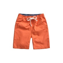 2015 New Arrival Boys Summer Solid Flax Sport Shorts Kids Cotton Beach Shorts Children Casual Trouser