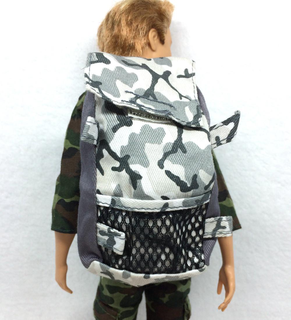 NK 5 Pcs/Lot  Doll  Military Knapsack Marines Fight Equipment Bag For Barbie Boy Male Ken Doll For Lanard 1/6 Soldier Finest Present