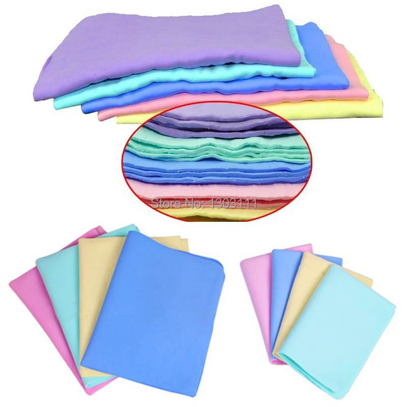 5PCS Free Shipping Colorful Magic Car Washing Wipe Towel Cloth Absorber Synthetic Chamois Leather OqX(China (Mainland))