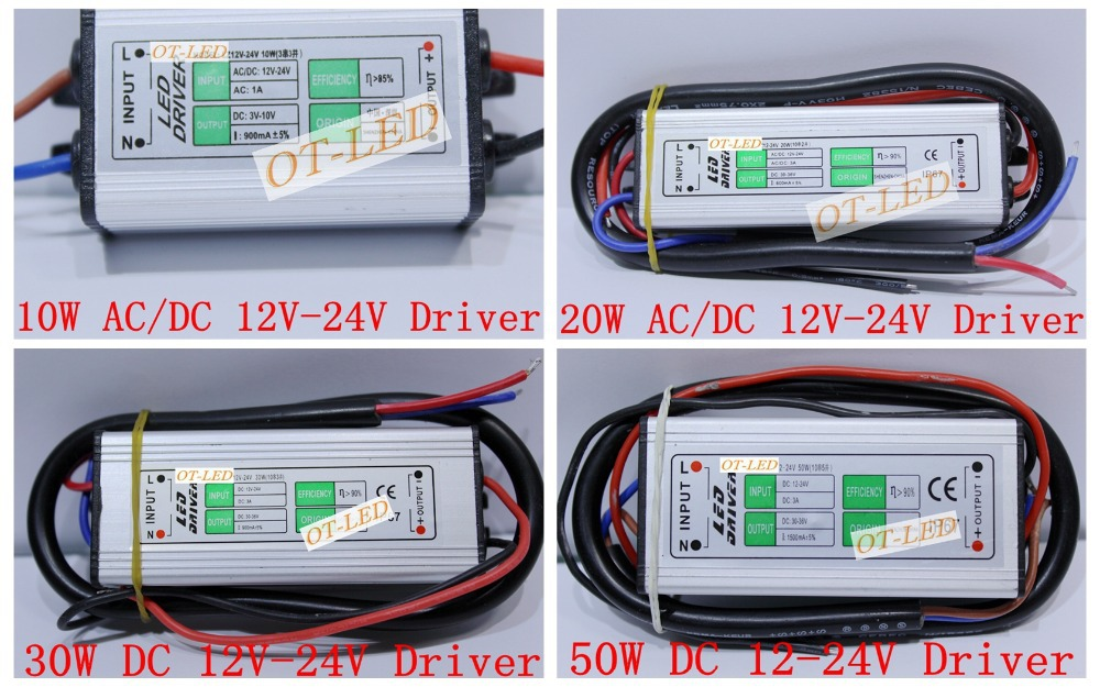 Led 20w Driver dc 12v-24v 10w 20w 30w 50w Led