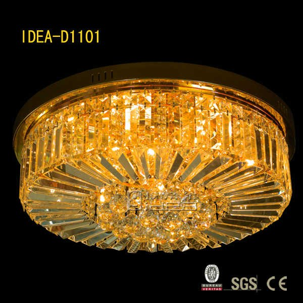 D1101 2012 newest modern crystal ceiling lamp,IDEA lighting(China (Mainland))