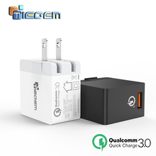 TIEGEM 18W Fast Quick Charge 3.0 USB Wall Charger EU/US Mobile Phone Charger for Samsung S7 Xiaomi 5 Huawei Tablet(China (Mainland))