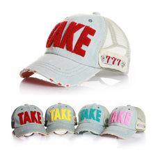 2015 Fashion Denim letters Embroidery Child Baseball Cap Baby Cap For Boy Girl Hat Kid Cap Summer Mesh Sun Hat Drop Shipping(China (Mainland))