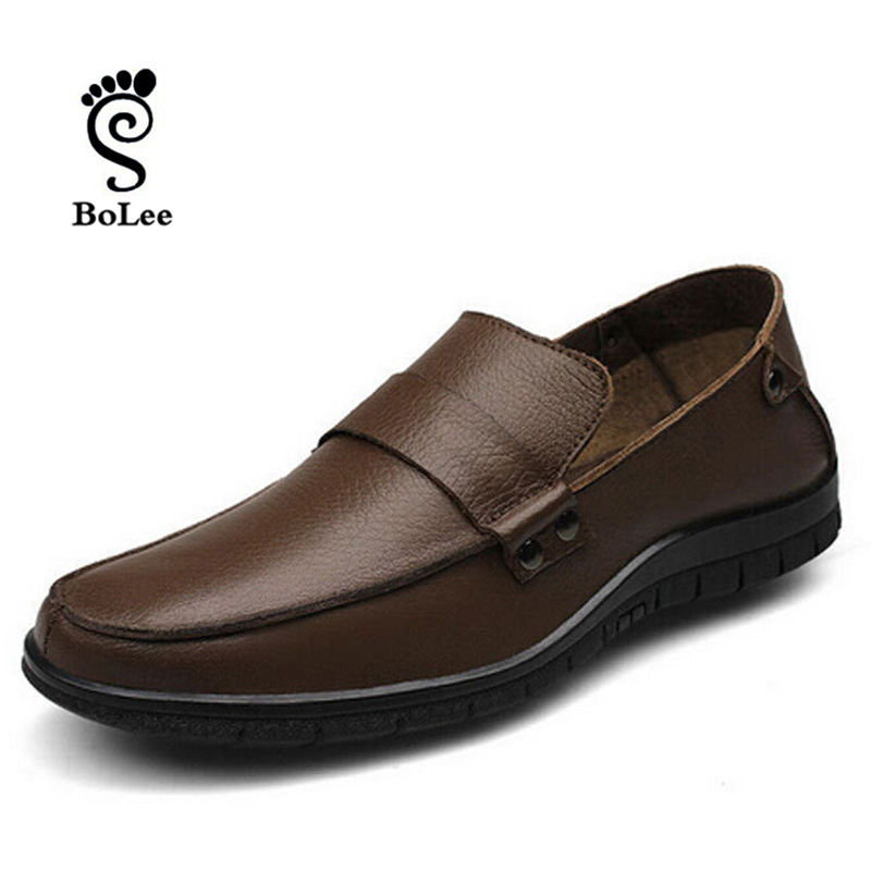 best quality genuine leather shoes soft loafers new