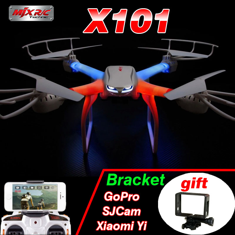 Profession Drones MJX X101 Quadcopter 2.4G 6-Axis RC Helicopter with gimbal Drone with C4005 FPV Wifi Camera HD VS SYMA X8W X600