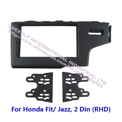 Double Din Car Stereo Replacement Fitting Kit Honda Fit Jazz RHD Front Bezel Audio Trim Surround Panel Face Frame Kits - Cheerly International Industrial Ltd. store