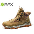 RAX Men Women Mid top Waterproof Leather Hiking Shoes Outdoor Trekking Boots Trail Camping Climbing Outventure