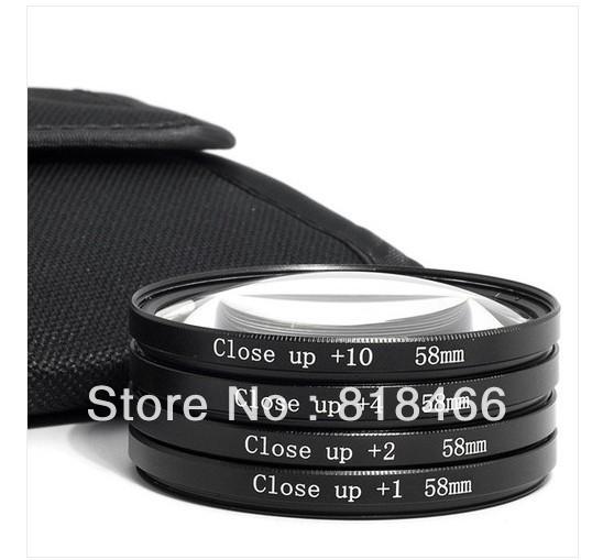 10pcs/lot  49mm GREEN.L Macro Close Up Lenses +1+2+4+10 Filter Kit for Digital Camera  For Canon 700D 550D 500D 50D 450D 400D<br><br>Aliexpress