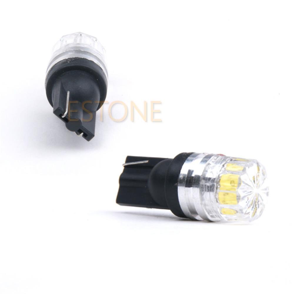 10Pcs Lot T10 5050 5 SMD Bright White LED Car Vehicle Side Tail Light Bulb Lamp