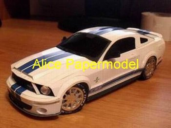 [Alice papermodel]1:18 Ford Mustang Shelby racing car models F1 car models sedan models