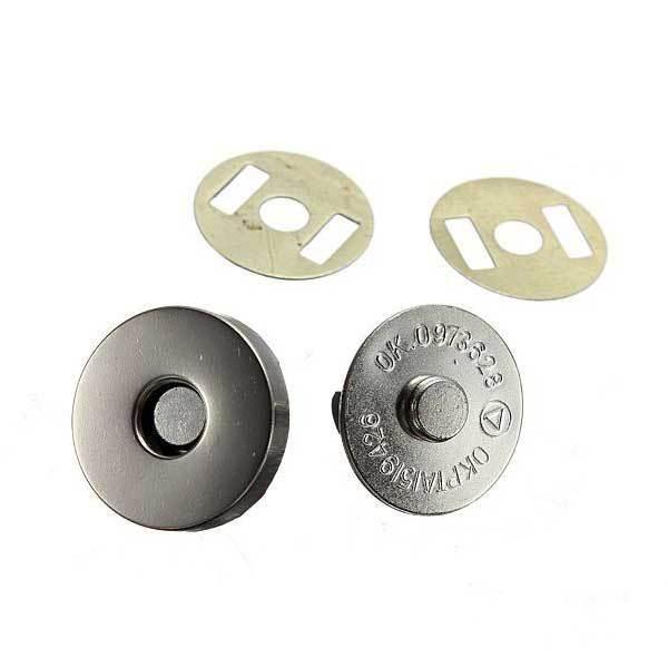 AltonBay 12 Set 18mm Nickel Magnetic Snaps Bag Clasp Metal Button Fastener(China (Mainland))