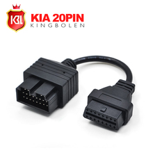 2016 Free Shipping for Kia 20 PIN to 16 PIN OBD1 to OBD2 Connect Cable for Kia 20PIN Car Diagnostic Tool Cable(China (Mainland))