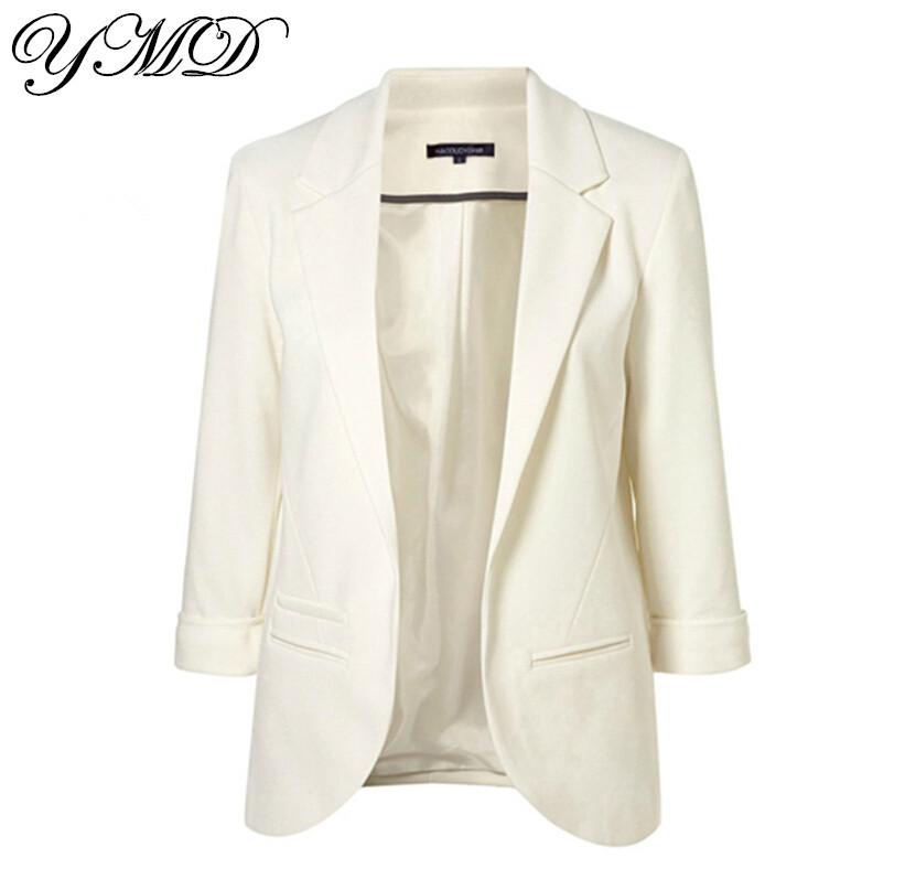 12 видов конфеты цвет пиджак женщин блейзеры причинным женские деловые костюмы белый пиджак feminino XS-XXL