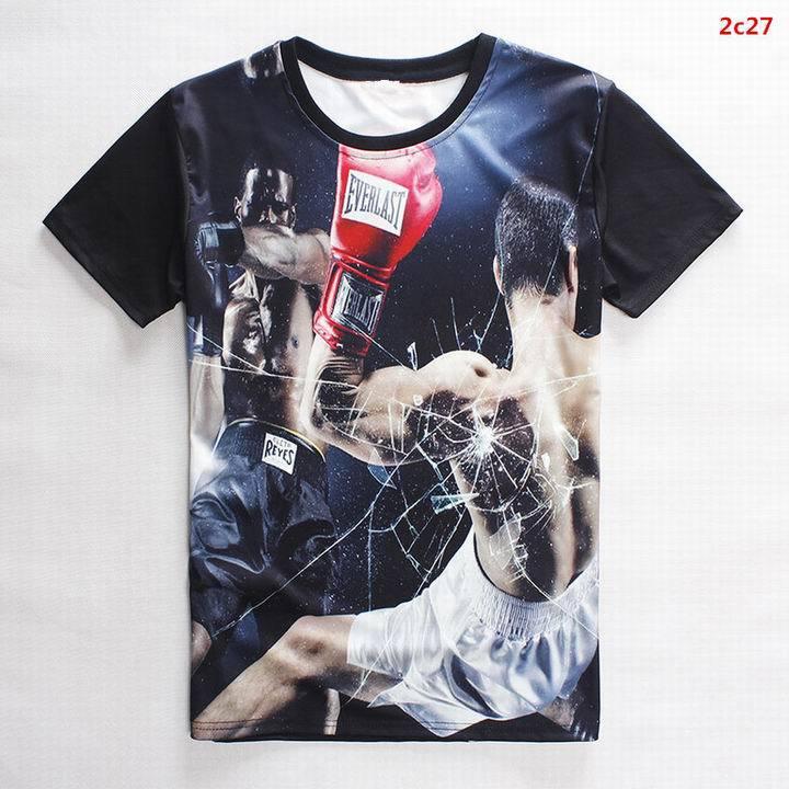 New arrival top quality O-neck summer t shirt man cotton fashion wear Boxer 3d print tops tees street hip hop camisetas M-XXL(China (Mainland))