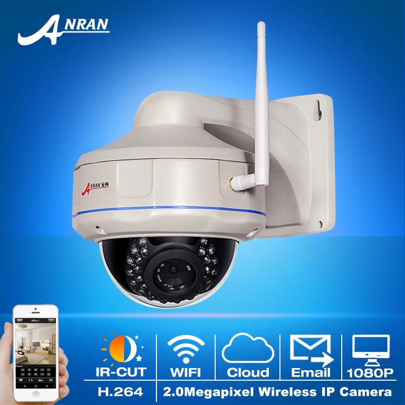 Onvif 2.0MP Full HD Wireless WIFI IP Camera 1080P Sony Sensor H.264 Outdoor IR Vandalproof Dome CCTV Surveillance Camera(China (Mainland))