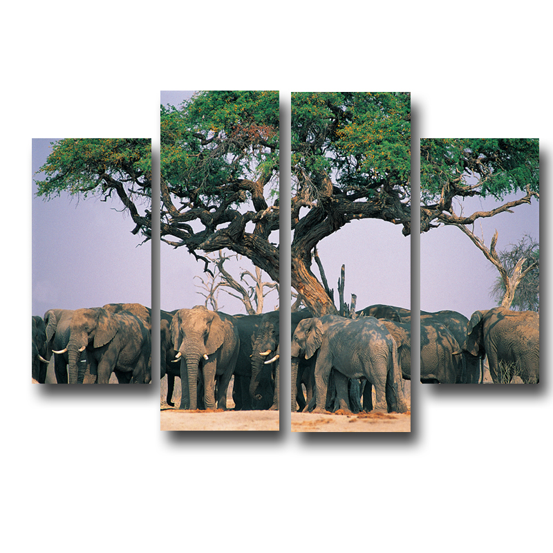 Online get cheap elephant wall decor African elephant home decor