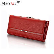 Buy New 2017 Ableme Brand Dollar Price Leather Purse Women Wallet Fashion Litchi Grain Hasp Ladies Long Clutch Wallet Female for $7.14 in AliExpress store