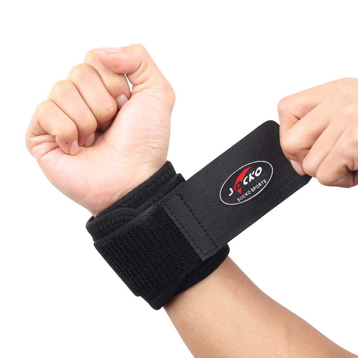1 PCS Free Shipping Classic Sports Elastic Stretchy Wrist Joint Brace Support Wrap Band - Black(China (Mainland))