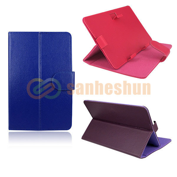 "New Fashion! 7"" inch Universal Leather Case Protective Cover Pouch Stand For Tablet PDA PC Ebook Reader Apad +Free/Drop Shipping(China (Mainland))"