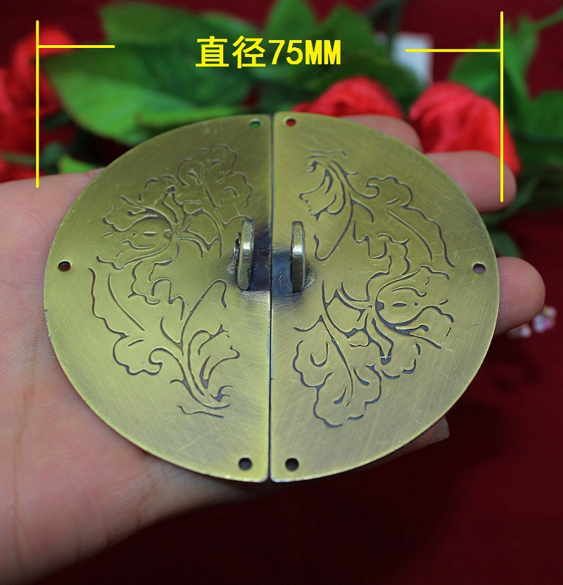 2014 Hot Sale Limited 75mm Upscale Brushed Panel Door Handle Button Can Be Equipped with A Padlock Off Buckle Clasp Around Open(China (Mainland))