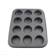 260g Hot Sale Cake Tools Fondant Kitchen Bakeware Metal Non Stick 12 Cups Cupcake Baking Tray