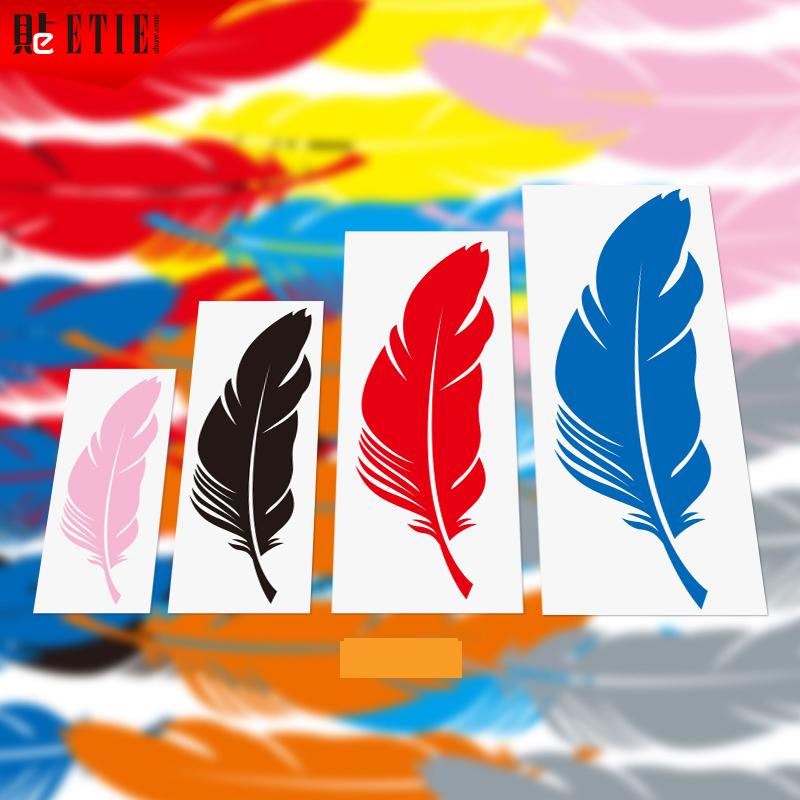 2015 ETIE Black Silver Yellow Red Blue Orange Pink Gray Feather 3M Car Wrap Printed PVC Adhesive Vinyl Film Pegatinas Motor Part(China (Mainland))