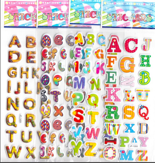 20pcs/lot cartoon ABC letters 3D foam stickers boys girls preschool award education early learning toys game kids gifts children(China (Mainland))