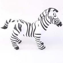 1pc Inflatable Zebra Horse Animal Shape Blow up Party Favor Decor Pool Kids Toy Gift - Nov15 -l5(China (Mainland))