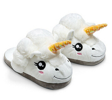 New Arrive Minions Slippers Cosplay Dreamy White Despicable Me 2 Cotton Plush Unicorn Slippers Creative Funny Home Soft Shoes(China (Mainland))