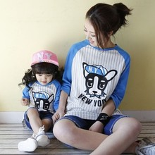 Hot Sale 2016 Summer Spring Family Matching Outfits Best Friend Letter Print Cotton T-shrit Mother Daughter Top Tees Family Look