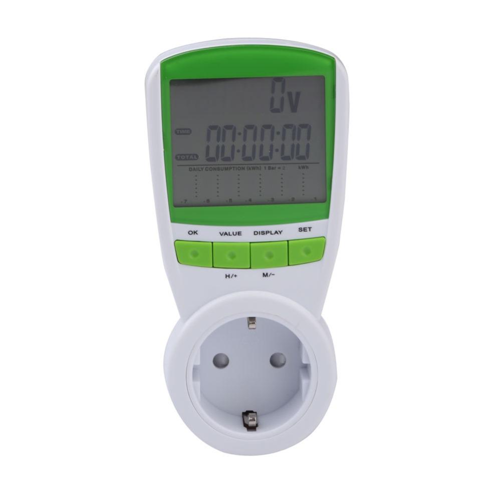 New Arrival 230V energy meter Watt Voltage Volt Meter Hertz Power Analyzer Factor EU Free Shipping