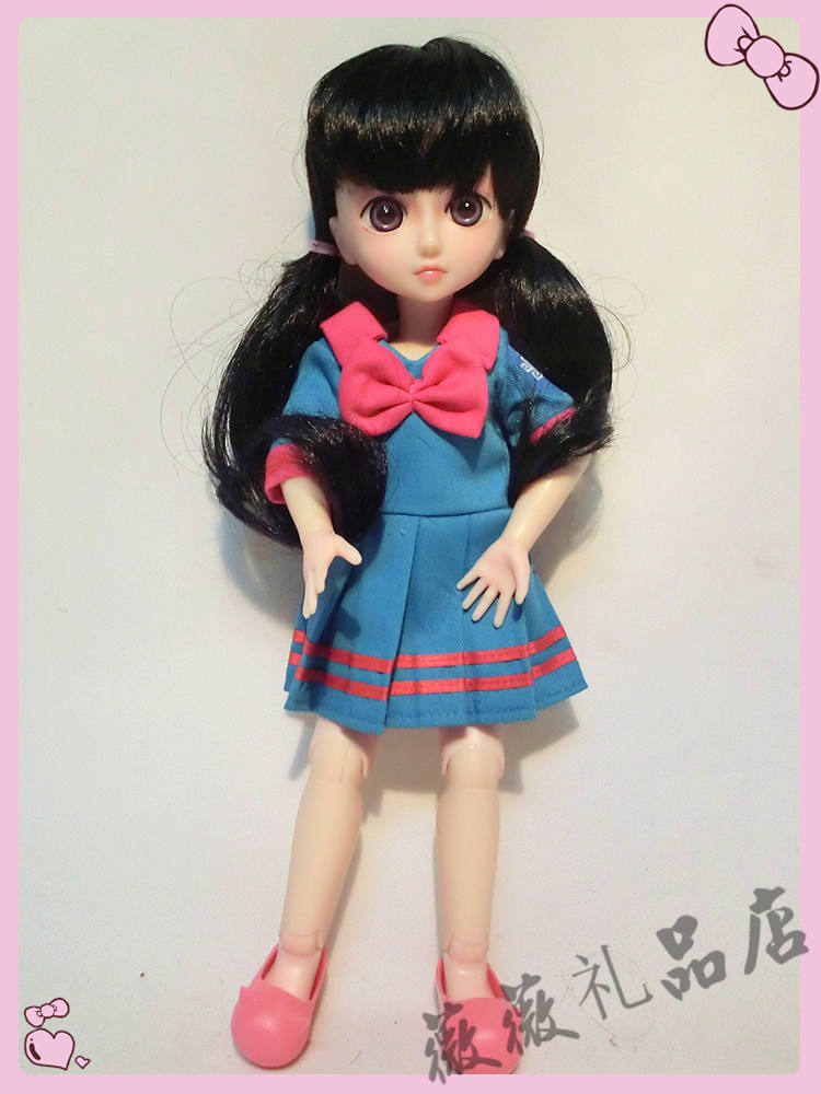 1/6 cute School uniforms doll 12inch BJD doll can make up, dress up toy for girl gift(China (Mainland))
