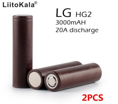 2PCS New original LG HG2 18650 3000 mAh battery 18650HG2 3.6 V discharge 20a, Dedicated electronic cigarette battery power(China (Mainland))