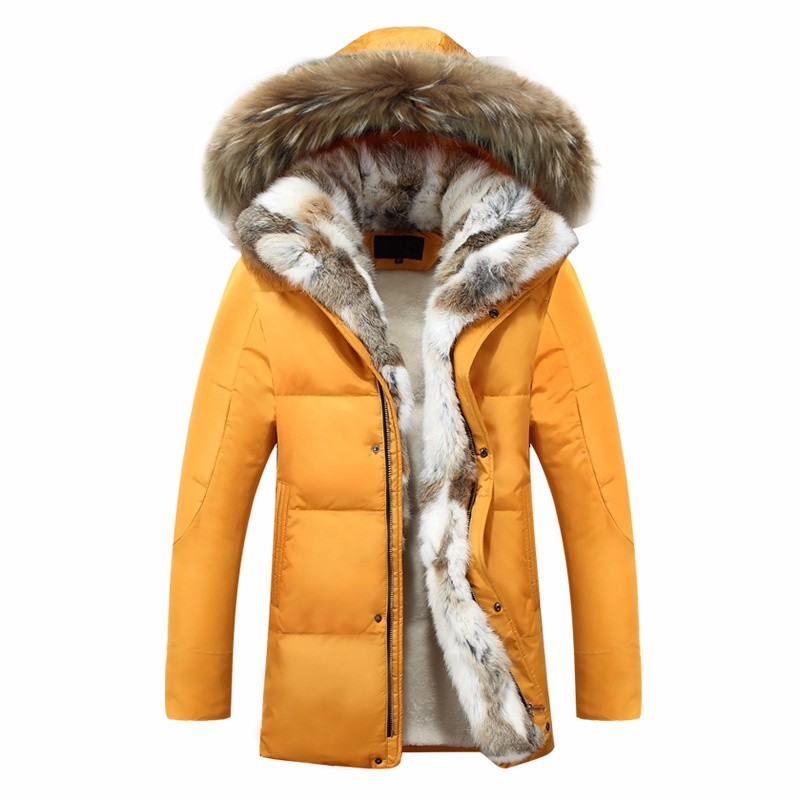 2016 New Luxury Men Down Jackets Fur Collar Fashion Thick Warm Parka Casual Hooded Coat Lovers Snow Winter Men Down Jacket Coat(China (Mainland))