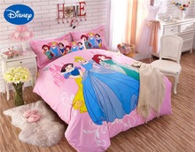 Princess Comforter Bedding Set Single Twin Full Queen Size Bed Sheets Duvet Covers Cotton Fabric Girls Bedroom Decor 4-6PCS Pink(China (Mainland))