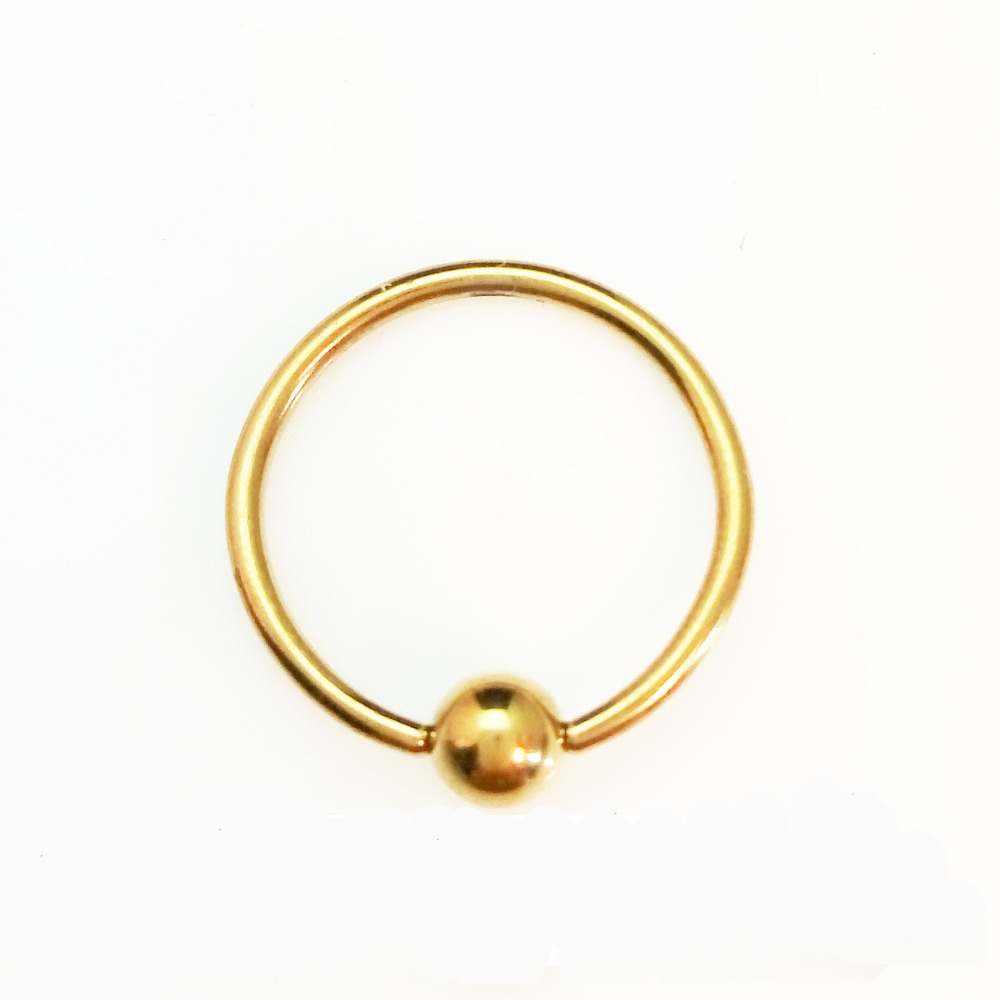 pin gold nose rings on