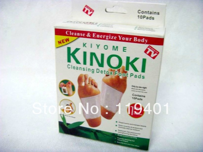 Retail Box ! 10 Boxes Cleansing Detox Foot Patches Kinoki Pads /Cleanse & Energize Your Body(10 Box=100pcs Pads+100pcs Adhesive)(China (Mainland))