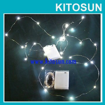 Factory Wholesale CR2032 Coin Battery operated Micro LED vine lights Christmas Decor White LED ...