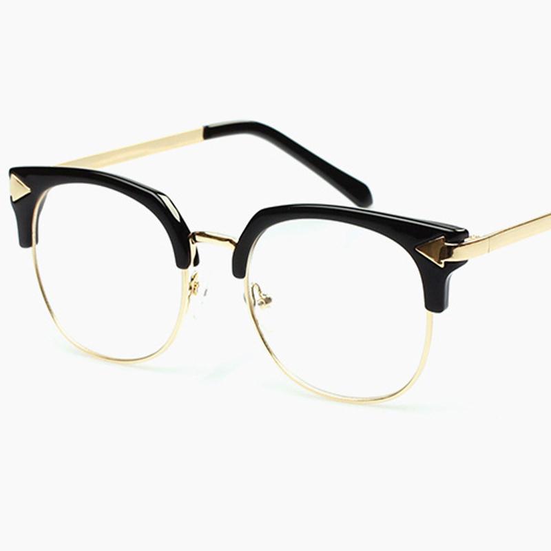 Fashion gold eye glasses frame men 2015 brand arrow ...