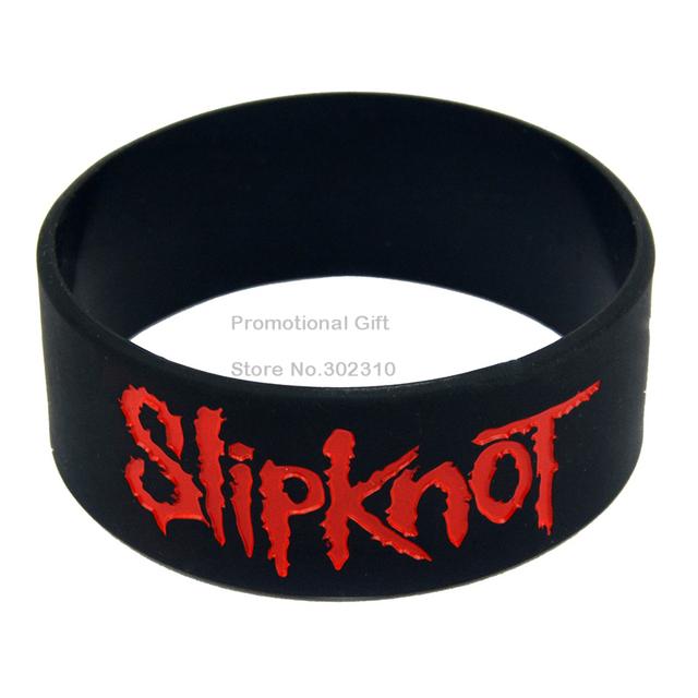 1 ШТ. Slipknot Силиконовые Браслеты Гравировка и Чернила заполненный Цвет Браслета