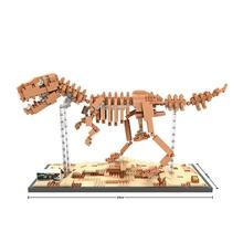 Buy LOZ Single Sale Mini Dinosaur Tyrannosaurus Rex Triceratops Velociraptor Fossil 3D Building Blocks Toys Children 9023 for $12.83 in AliExpress store
