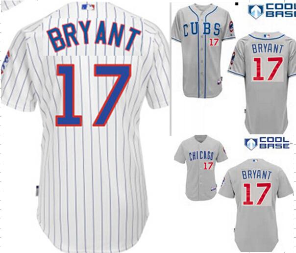 Best kris BRYANT Chicago Cubs #17 kris BRYANT Men's MLB Jersey white blue gray jersey size small m l xl 2xl 3xl 4xl 58 2015 new