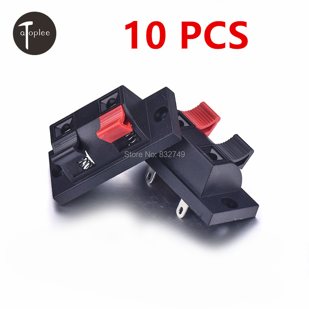 NEW Sale 10 PCS Cable Terminals for Loudspeaker Box 2 Pins Splice Electronic Terminals Connectors Cable Terminals(China (Mainland))
