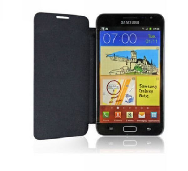 Hot Sales!!High Quality Flip Genuine Pu Leather Case Cover For Samsung Galaxy Note N7000 I9220 + Screen Protector Free Shipping