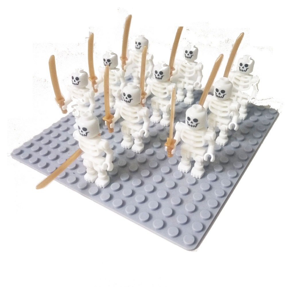 10pcs Ninja Skeleton (Straight Arms / Swivel Arms) Caribbean Pirates Castle Building Block fit minifigs(China (Mainland))